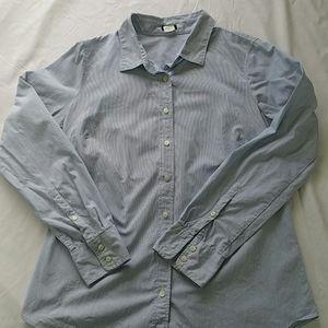 Women's J Crew slim fit button down striped shirt